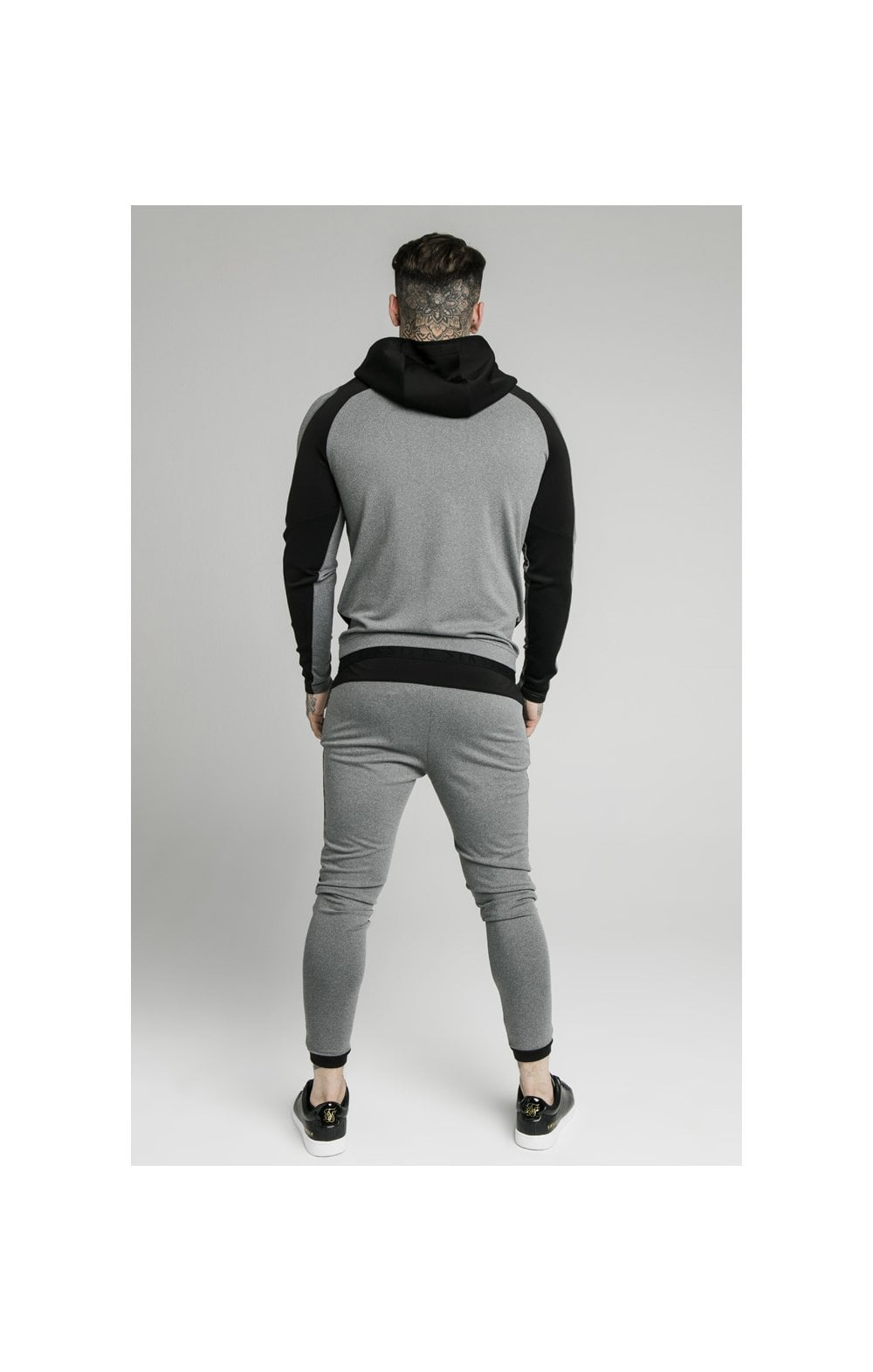 Load image into Gallery viewer, SikSilk Endurance Overhead Hoodie – Grey & Black (2)