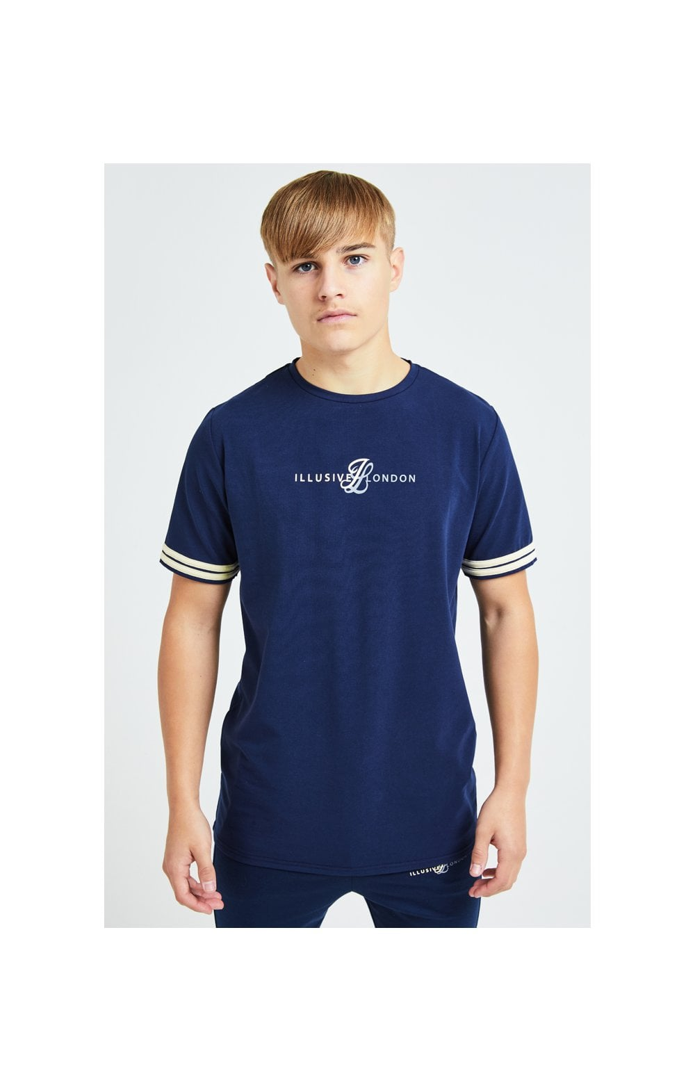 Illusive London Legacy Tee - Navy & Cream