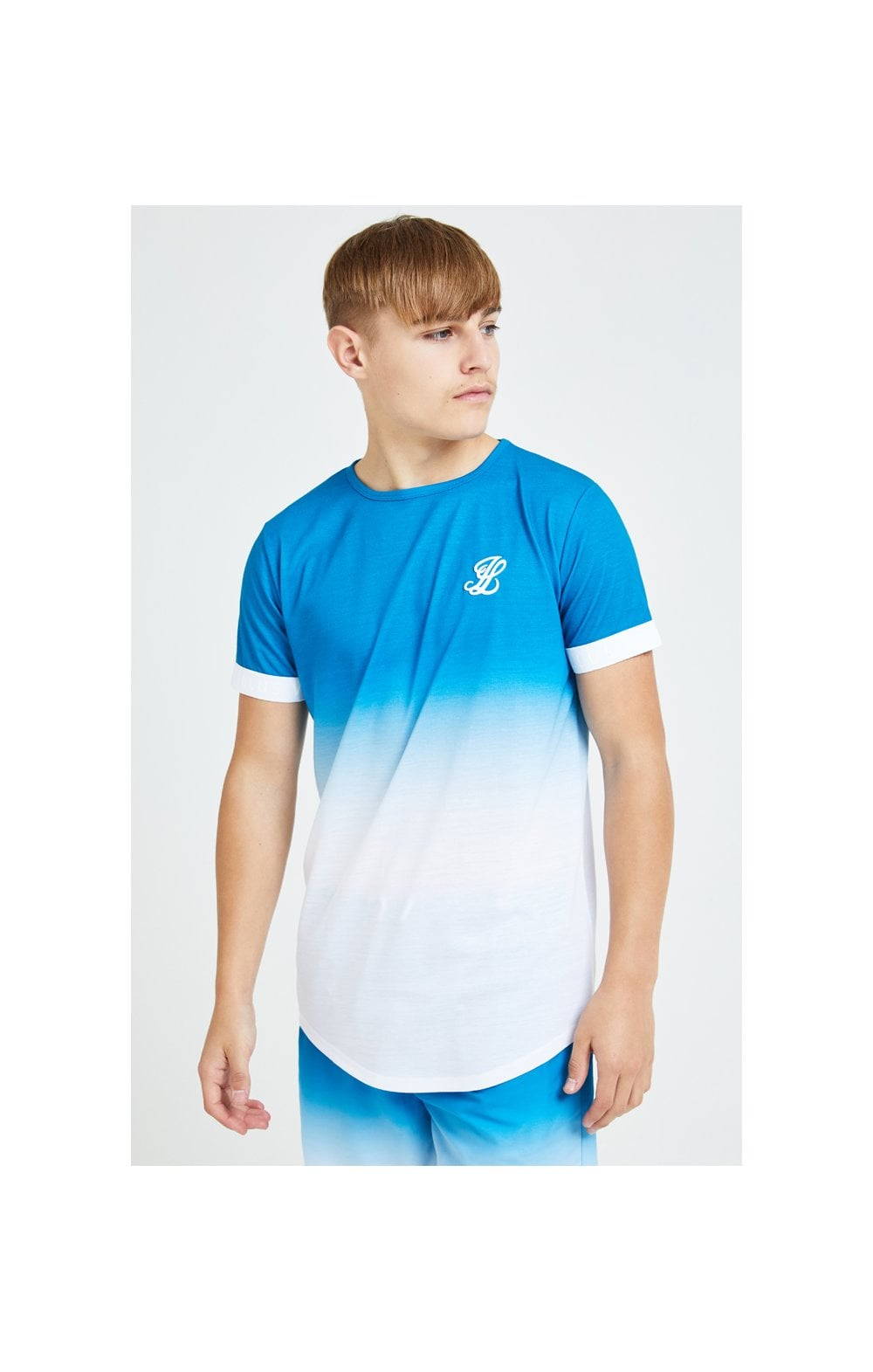 Illusive London Elevate Tech Tee - Blue & White