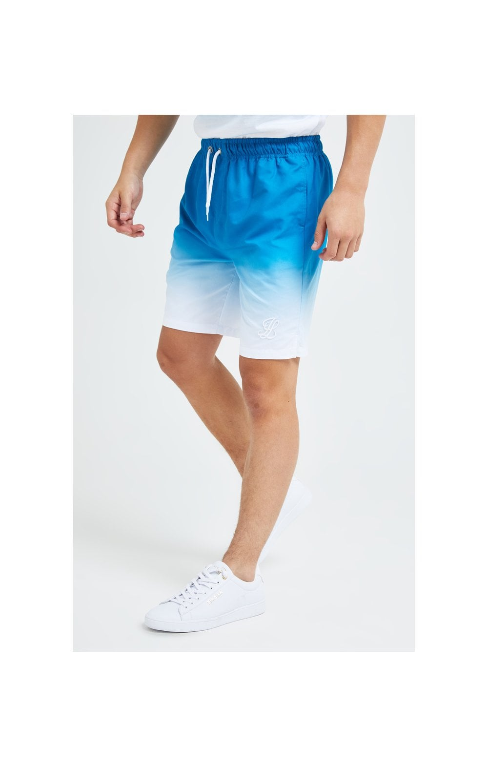 Illusive London Elevate Fade Swim Shorts - Blue & White