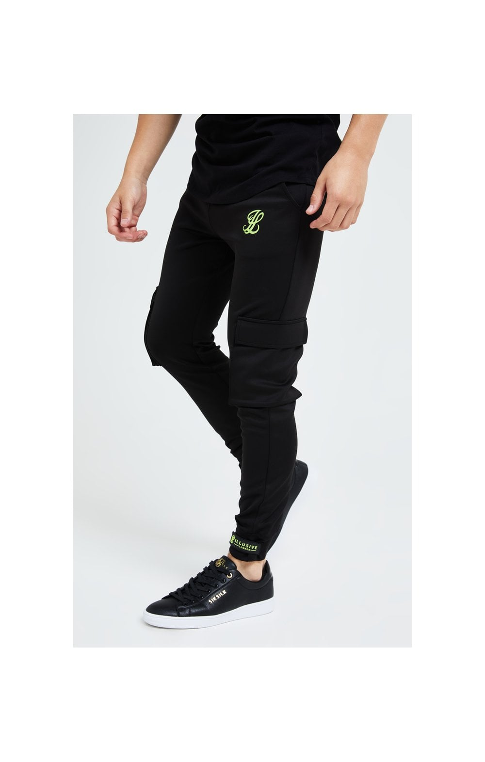 Illusive London Element Cargo Joggers - Black & Green