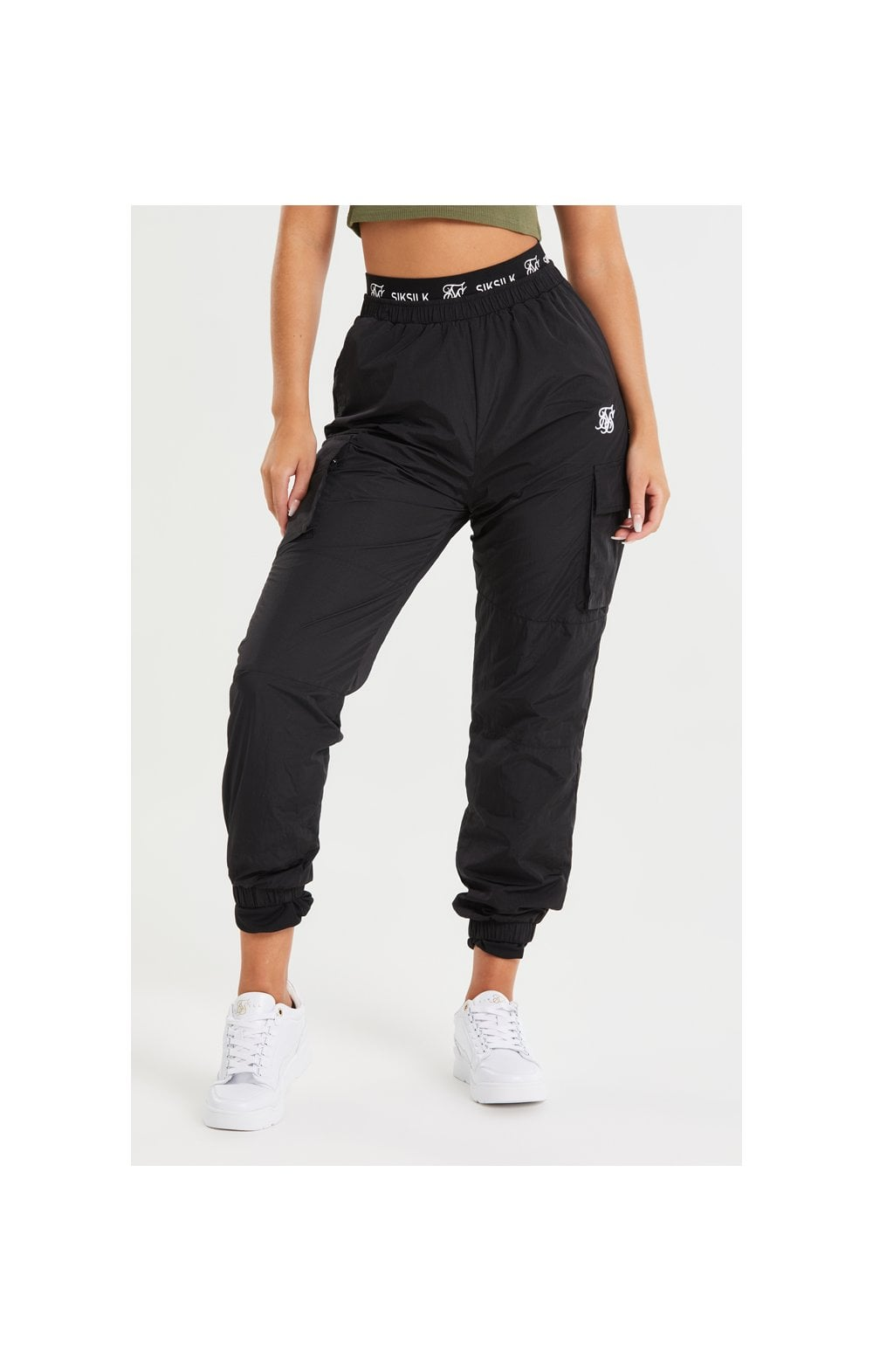 SikSilk Tech Cargo Pants - Black