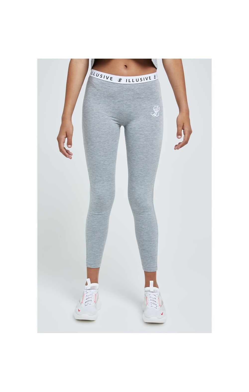 Illusive London Core Leggings - Grey Marl