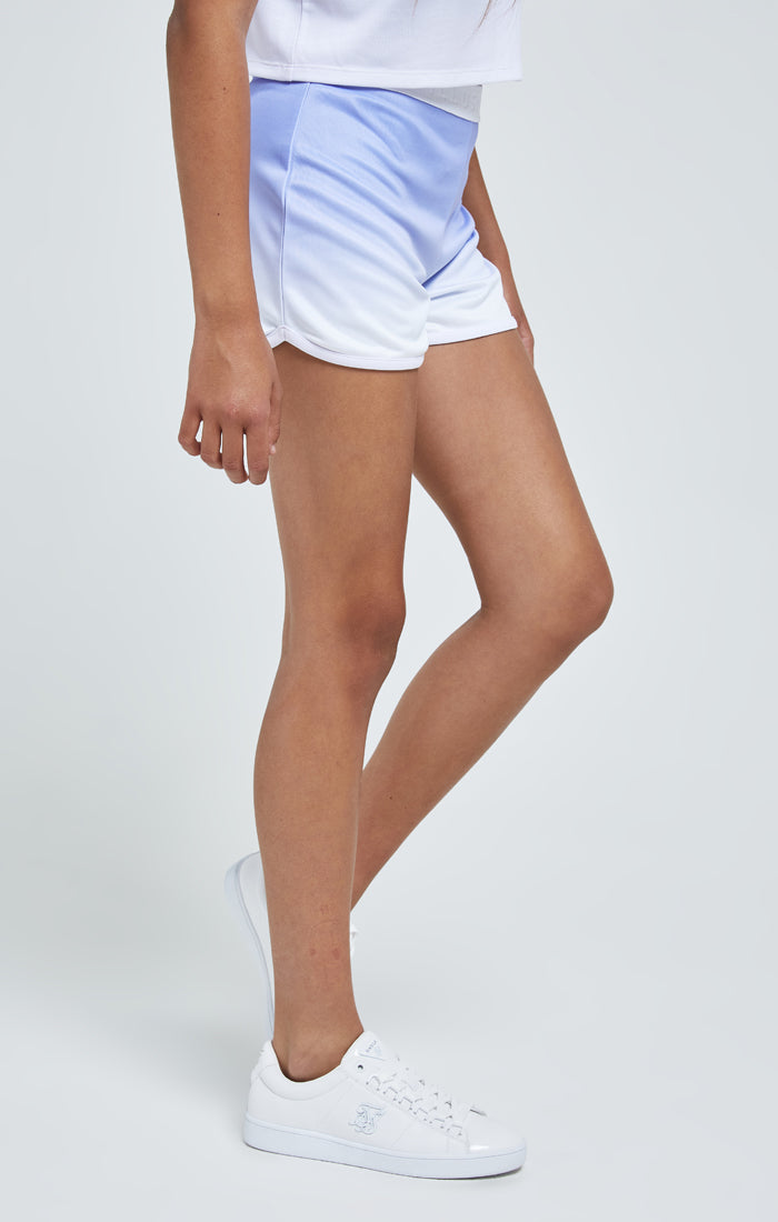 Illusive London Fade Tape Shorts - Purple & White
