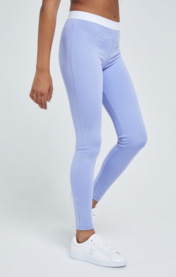 Illusive London Tape Leggings - Purple & White