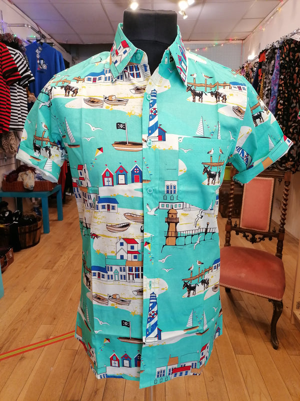 Brighton beach print shirt