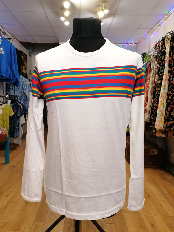 Rainbowesque stripe t-shirt