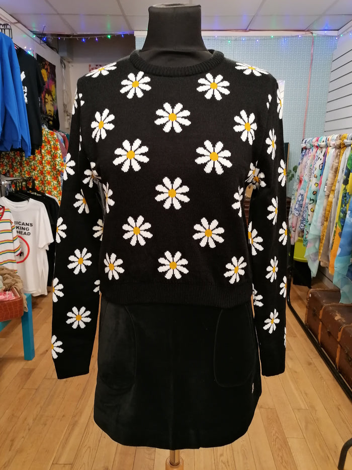 Cropped daisy jumper
