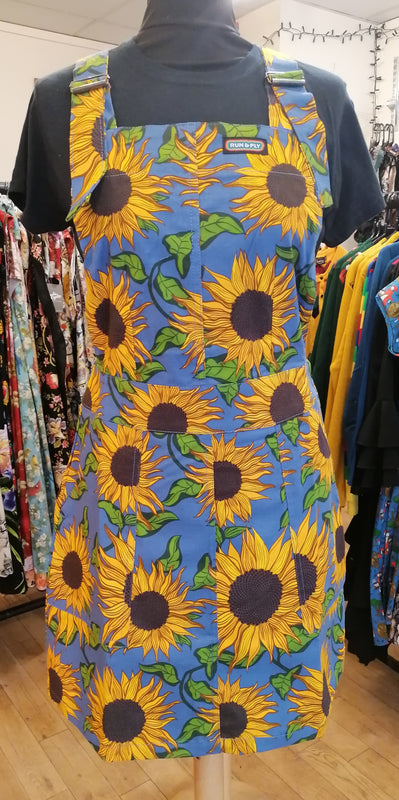 Sunflower pinafore dress