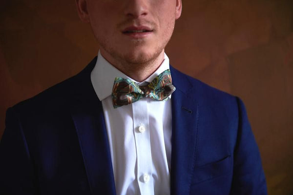 Unique Silk Bow Tie Landscape 1 | Made in Quebec | Nathon Kong