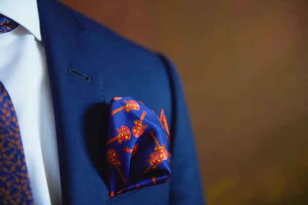 High End Silk Pocket Square Made in Montreal | Nathon Kong