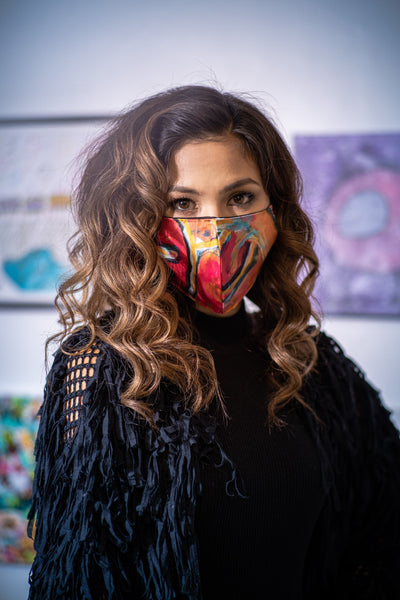 Chloe Chow Wears Mental Health Awareness Face Mask | Nathon Kong