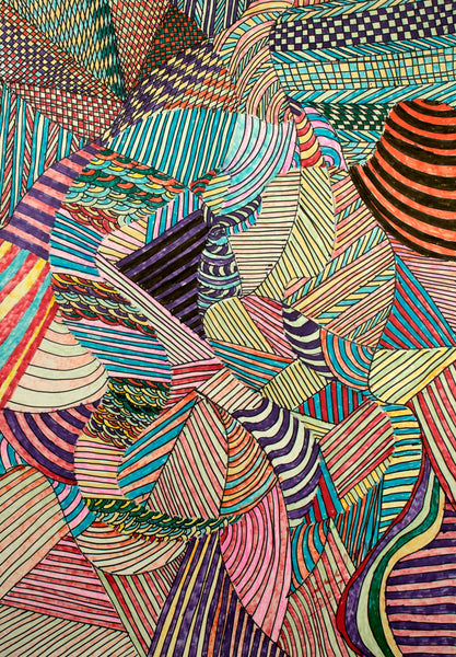 Geometric Silk Artwork Made in Montreal | Fashion Designer Nathon Kong