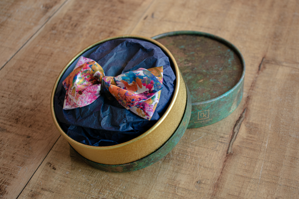 Unique Pink Silk Bow Tie Made in Montreal | Nathon Kong