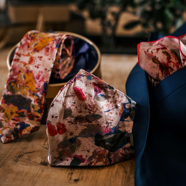 Pink Silk Fashion Accessories Supporting Mental Health | Nathon Kong