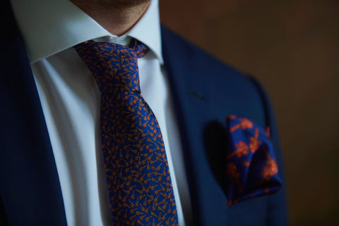 Blue Silk Designer Ties and Neckties for Men Made in Canada | Nathon Kong
