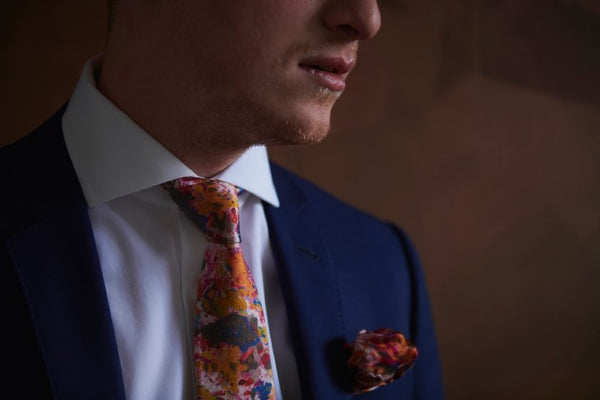Pink Designer Ties with Abstract Art made in Canada | Nathon Kong