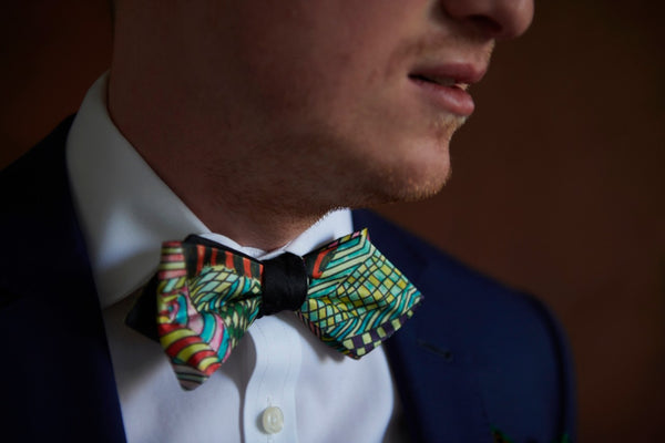 Green Silk Self Tie Wedding Bow Ties for Men Made in Canada | Nathon Kong