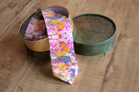 Abstract Silk Necktie | Nathon Kong