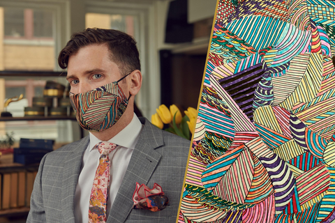 Breathable Patterned Silk Face Mask Made in Quebec | Nathon Kong