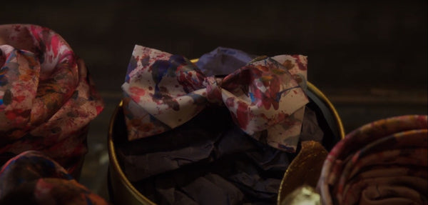 Pink Silk Bow Ties Made in Canada | Fashion Designer Nathon Kong
