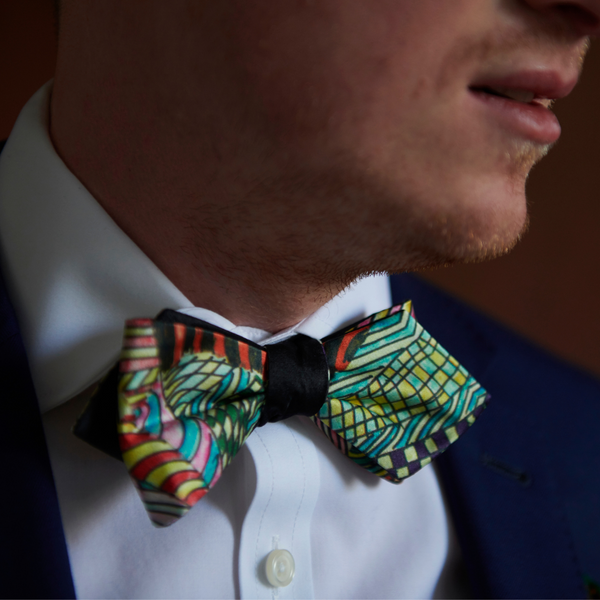 Silk Self-Tie Bow Tie | Art by BM | Suit & Tuxedo | Nathon Kong