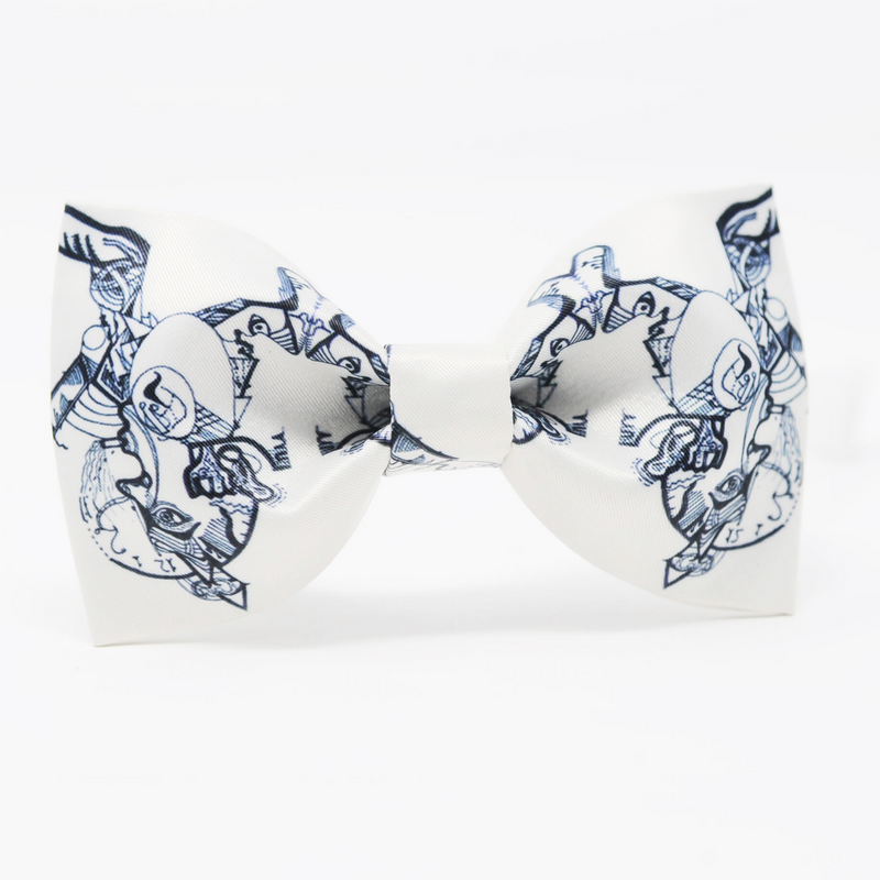 100% Mulberry Silk Bow Tie with artwork | Fashion Designer Nathon Kong | Canada