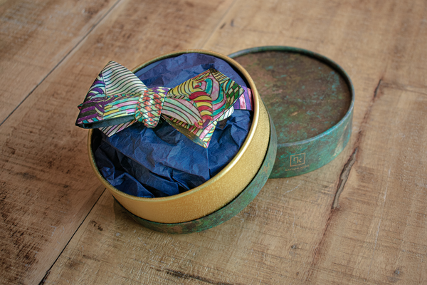 Silk Self-Tie Bow Tie with the artwork Landscape 2 | Gift Box | Nathon Kong