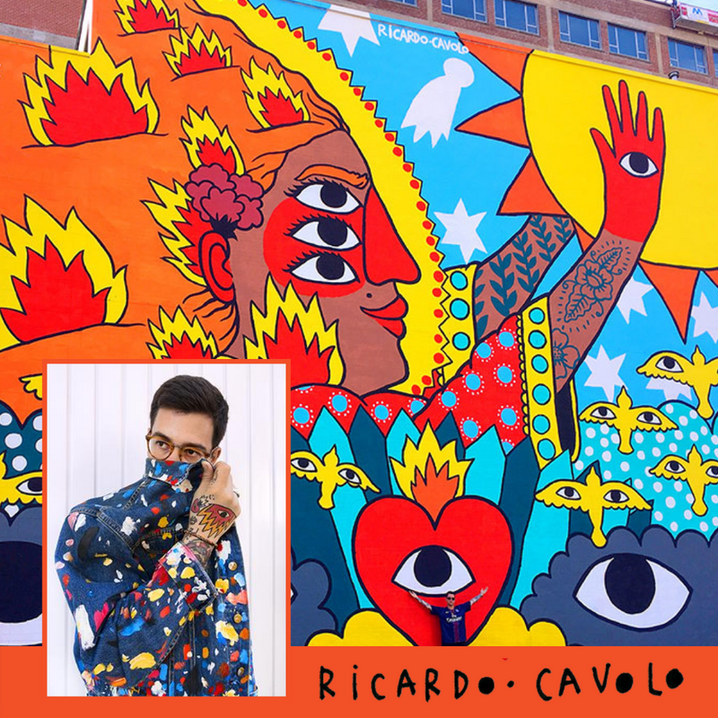 Artist Ricardo Cavolo, collaboration with fashion designer Nathon Kong | Art to wear