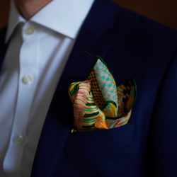 Mulberry Silk Pocket Square | Art by BM | Suit & Tuxedo | Nathon Kong