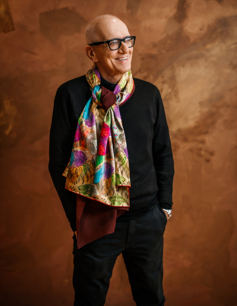Nathon Kong X m0851 | Mulberry Silk & Wool Scarf for Winter