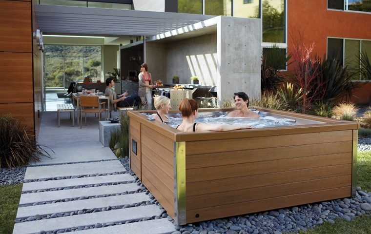 Jacuzzi j-LXL hot tub outside kitchen