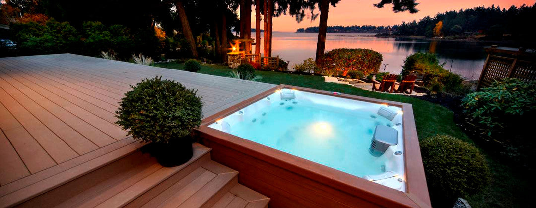 Hot Tub installed in garden