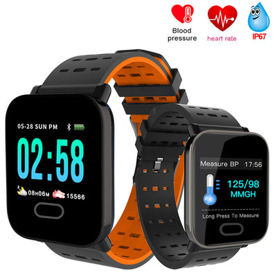A6 Smart Watch with Heart Rate Monitor Fitness and Blood Pressure Tracker - efashiontrends