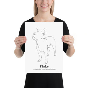 Personlig plakat af Boston Terrier #2 - ThePupPoster