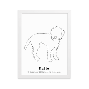 Personlig Plakat af Lagotto Romagnolo m. Ramme | ThePupPoster