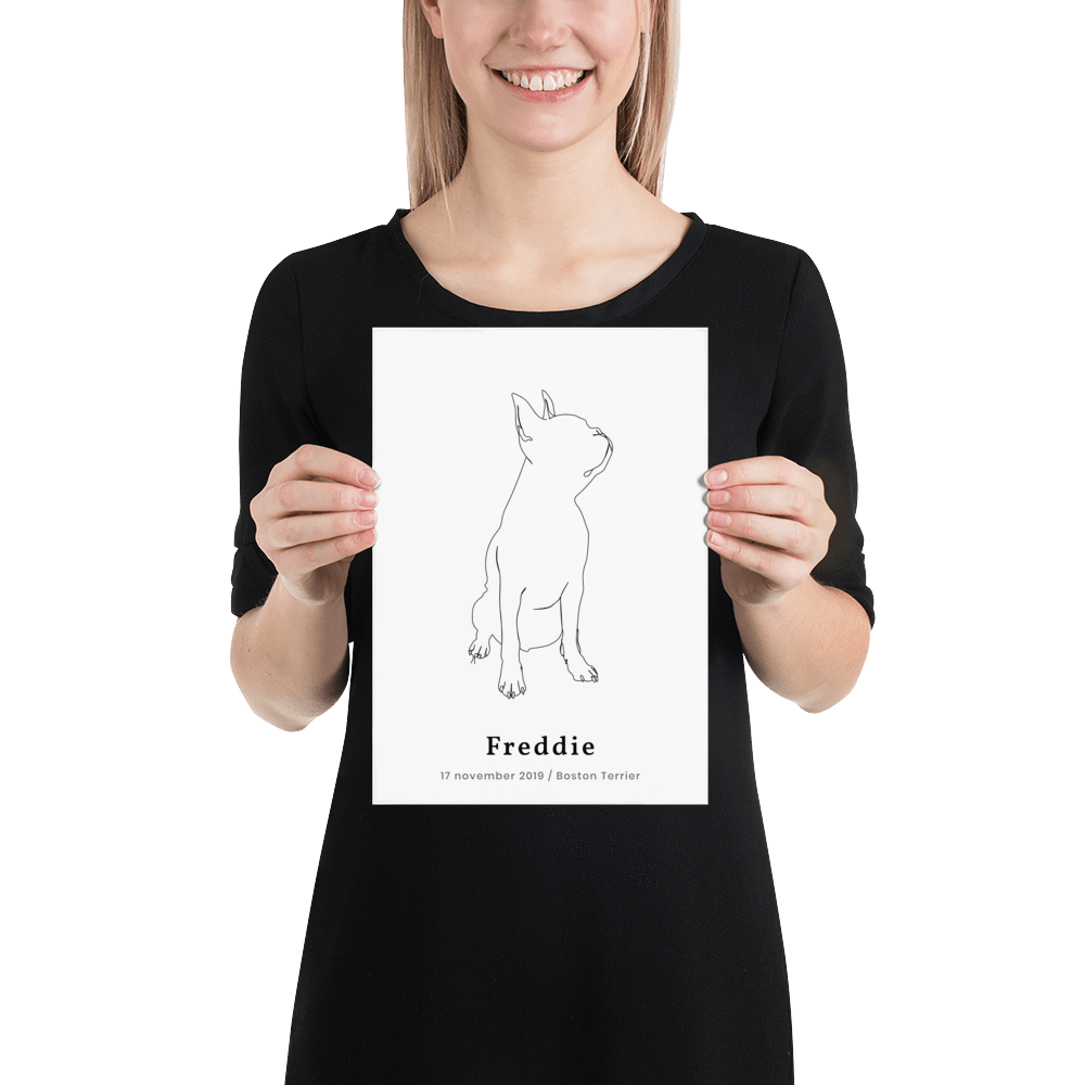 Personlig plakat af Boston Terrier | ThePupPoster
