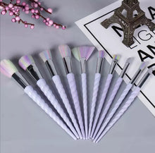 Load image into Gallery viewer, Make Up Brush Set 10pcs - Diamond Pouch