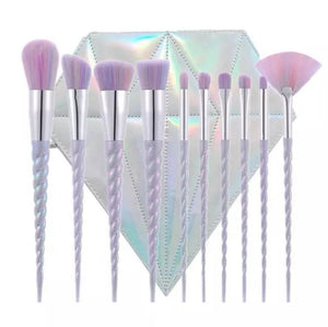 Make Up Brush Set 10pcs - Diamond Pouch