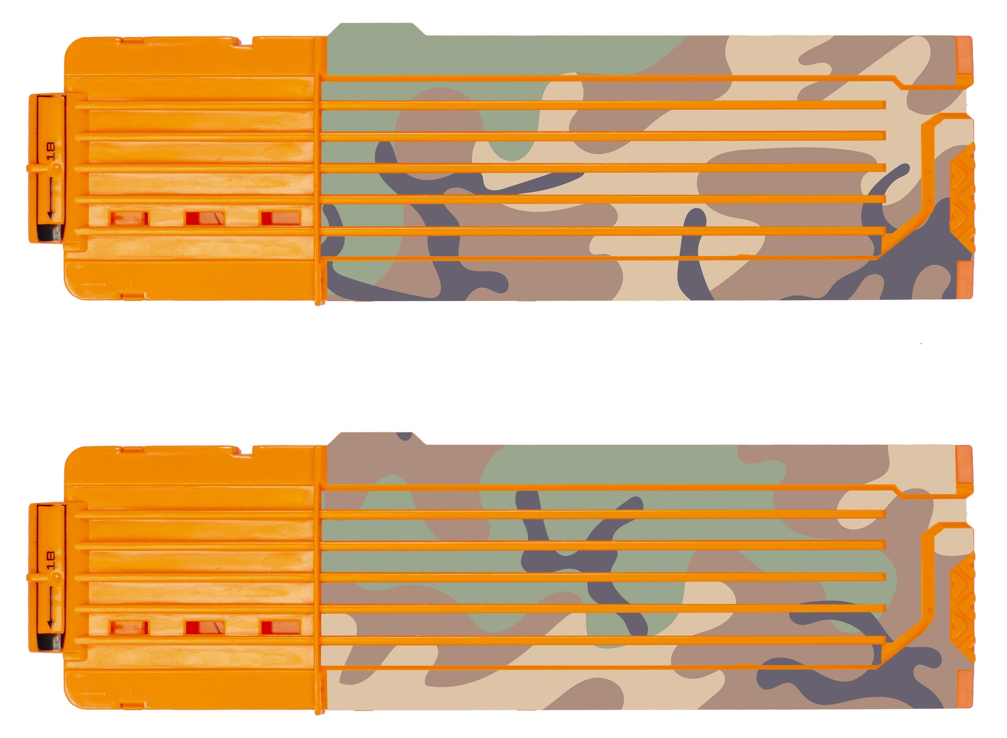 Camo Collection - Nerf 18-Round Straight Magazine Custom Skins & Wraps (2-pack)