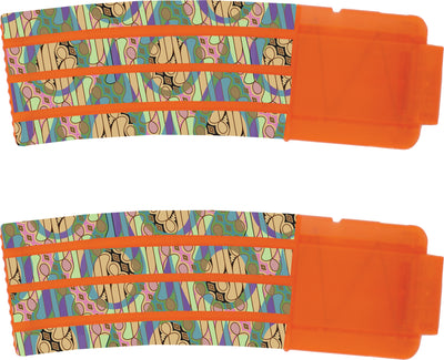 Abstract Collection - Nerf Banana Magazine 15-Round Custom Skins & Wraps (2-pack)