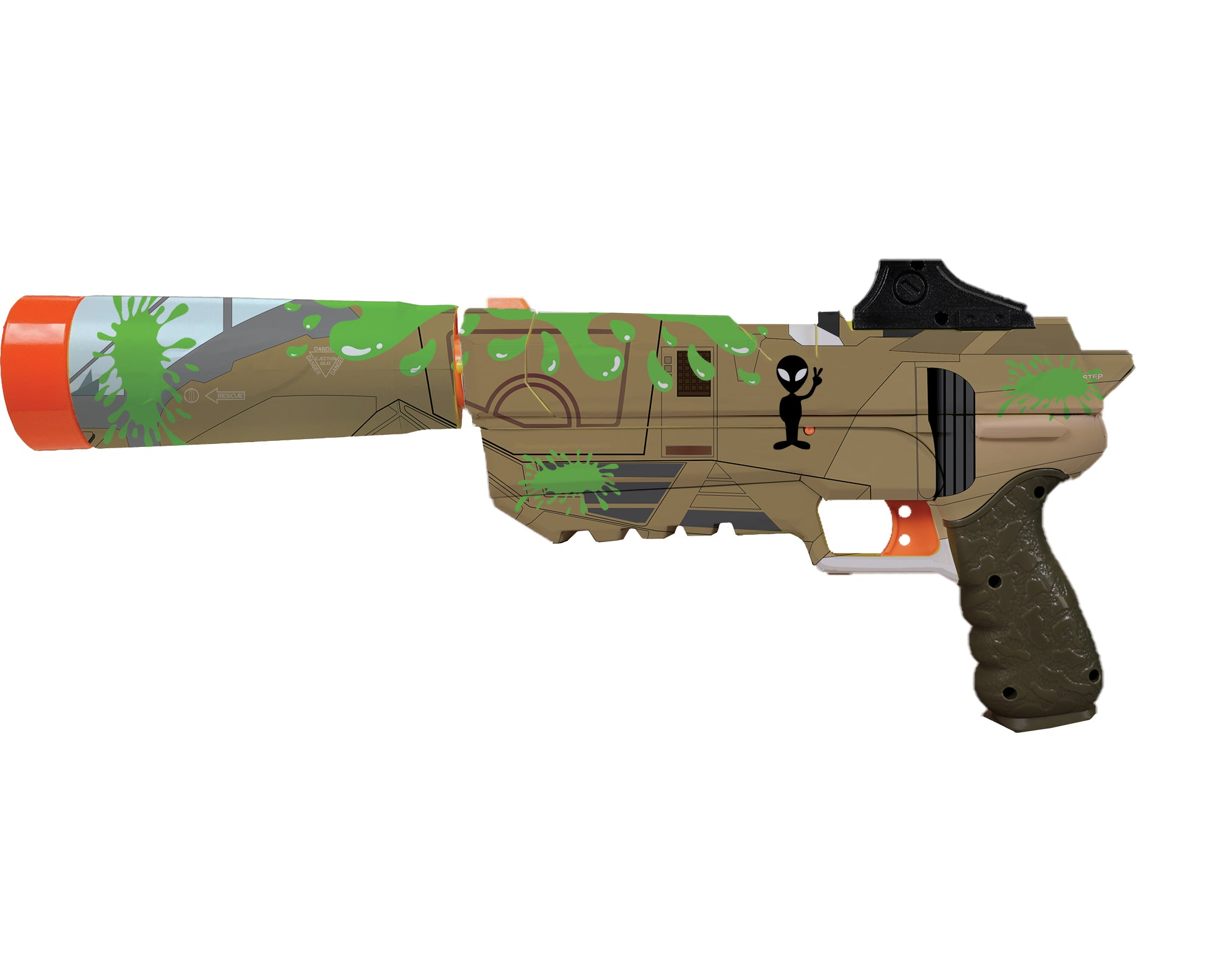 Alien Collection - Nerf Fortnite Sp-L Custom Skins & Wraps