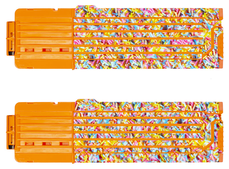Food Collection - Nerf 18-Round Straight Magazine Custom Skins & Wraps (2-pack)