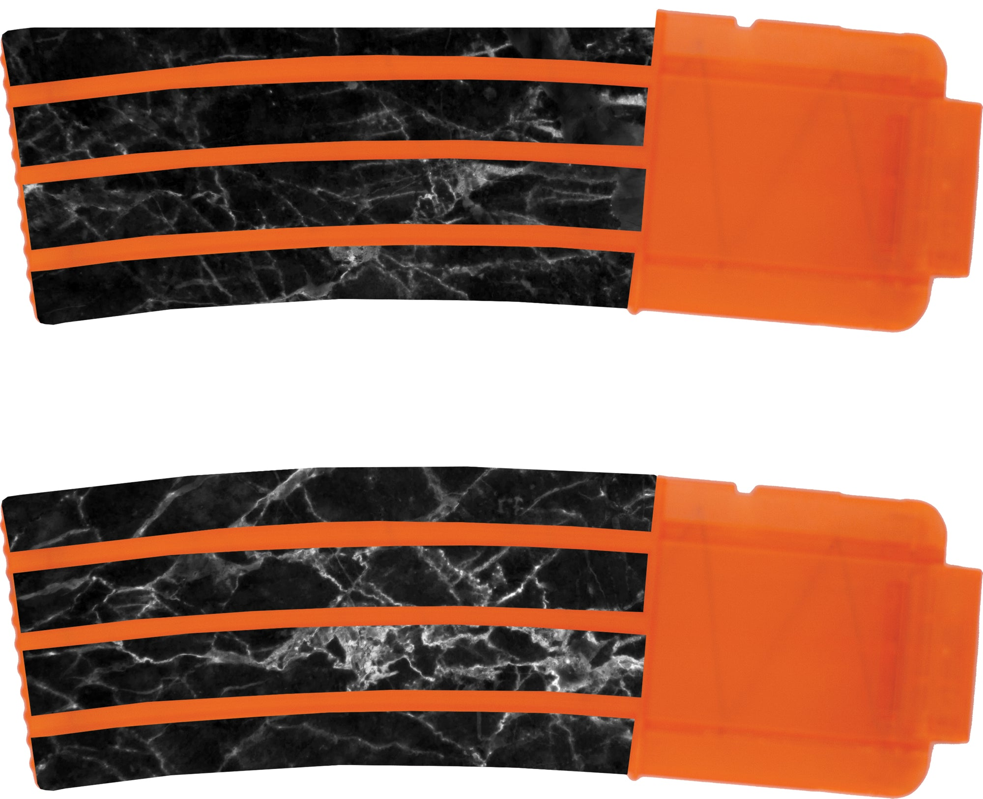 Marble Collection - Nerf Banana Magazine 15-Round Custom Skins & Wraps (2-pack)