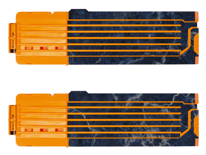 Marble Collection - Nerf 18-Round Straight Magazine Custom Skins & Wraps (2-pack)