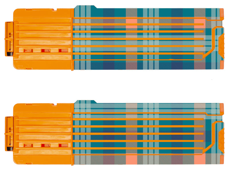 Tartan Collection - Nerf 18-Round Straight Magazine Custom Skins & Wraps (2-pack)