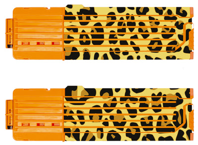 Animal Collection - Nerf 18-Round Straight Magazine Custom Skins & Wraps (2-pack)