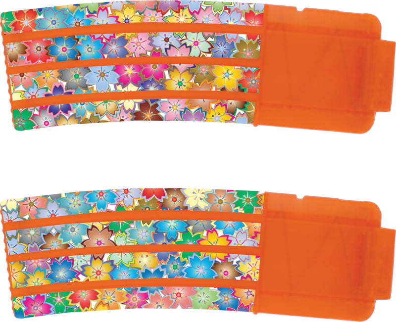 Flowers Collection - Nerf Banana Magazine 15-Round Custom Skins & Wraps (2-pack)