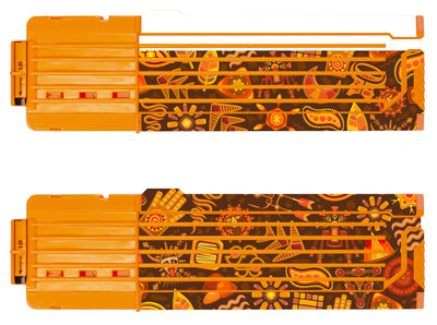 Tribal Collection - Nerf 18-Round Straight Magazine Custom Skins & Wraps (2-pack)