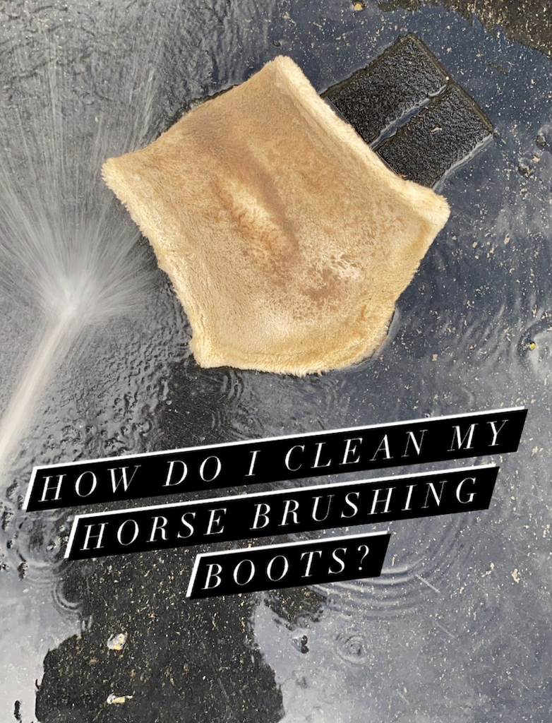 How do I clean my brushing boots?